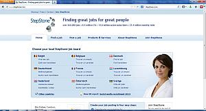 Jobs in Europe, Stepstone Website l Jobandwork.asia