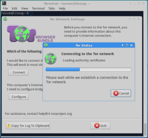 tor browser loading authority certificates