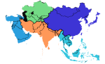 asia-5-regions job and work Asia